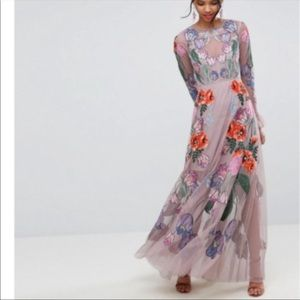 ISO ASOS floral embroidered maxi dress